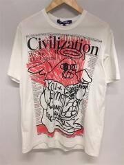 20SS/綿度詰天竺/Tシャツ/M/コットン/ホワイト