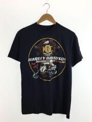 HARLEYDAVIDSON/ハーレーダヴィッドソン/Tシャツ/M/コットン/ブラック/80s/Hanes