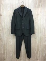 スーツ/44/ウール/グレー/ストライプ/段返り3B/本切羽