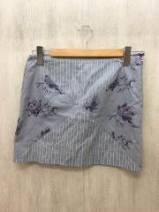 スカート/2/コットン/グレー/ストライプ