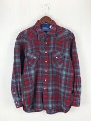 WESTERN WEAR/ネルシャツ/XL/ウール/RED/レッド/チェック