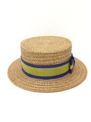 カンカン帽/イギリス製/状態考慮/the york hat/ハット/7/ベージュ
