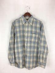 70s/SIR PENDLETON/ウールシャツ/L/ウール/ベージュ/チェック