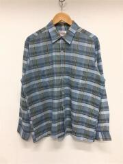 長袖シャツ/16.5/ブルー/チェック/60s/ヴィンテージ