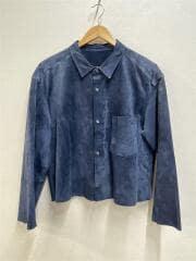 長袖シャツ/FREE/豚革/ネイビー/16SEXCLUSIVE1/ビックシルエットレザーシャツ
