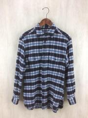 WOOL CHECK L/S SHIRTS/カシミヤ混ネルシャツ/FREE/ウール/マルチカラー/チェック