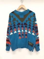 セーター(厚手)/2/コットン/ブルー/総柄/19-01887M/PENDLETON PULLOVER