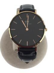 クォーツ腕時計/アナログ/BLK/BLK