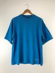 Tシャツ/M/コットン/BLU