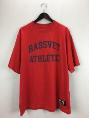 Rassvet X Russell Athletics Printed Tshirt/Tシャツ/XL/コットン/RED