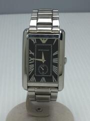腕時計/アナログ/ステンレス/ブラック/シルバー/AR-1608