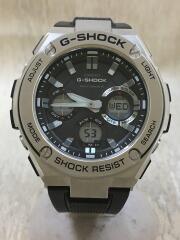 ソーラー腕時計・G-SHOCK/デジアナ/ラバー/SLV/BLK//電波  G-STEEL ジースチール  GST-W110