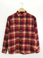 L/S Thermolite Shirt/ネルシャツ/M/コットン/RED/チェック/NRW61508