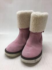 ムートンブーツ/キッズ靴/18cm/ブーツ/スウェード/PNK