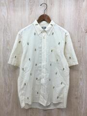 Him Route Shirt/半袖シャツ/L/コットン/CRM/総柄/NR21956