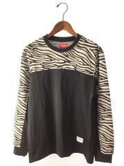 19AW/Zebra L/S Top Black/長袖Tシャツ/S/ポリエステル/BLK