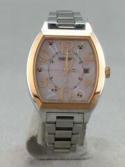 ソーラー腕時計/アナログ/ステンレス/PNK/SSVW048 1B22-0BB0