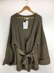 Trunc88/Both Sides Rib Cardigan/FREE/アクリル/BRW/0104A0400011
