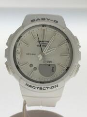 腕時計/デジアナ/ラバー/WHT/WHT/BGS-100SC/FOR SPORT