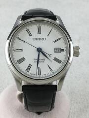 自動巻腕時計/アナログ/レザー/WHT/BLK/6R15-03V0
