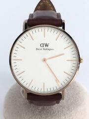 クォーツ腕時計/アナログ/レザー/BRW