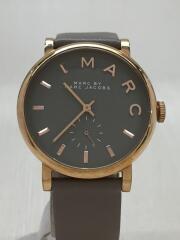 クォーツ腕時計/アナログ/レザー/GRY/MBM1266