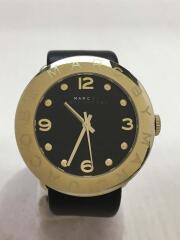 クォーツ腕時計/アナログ/レザー/BLK/BLK/MBM1154