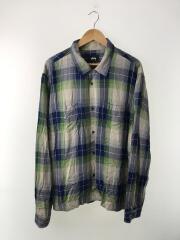 Rayon Plaid L/SL Shirt/長袖シャツ/XL/レーヨン