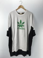 ドッキングマリファナプリントTシャツ/XL/コットン/WHT/SS20TR215