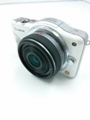 デジタル一眼カメラ LUMIX DMC-GF3W-W ダブルレンズキット [シェルホワイト]