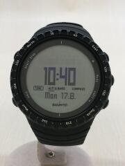 クォーツ腕時計/デジタル/ラバー/ブラック/黒