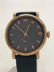MBM1329/クォーツ腕時計/アナログ/レザーベルト/ネイビー/紺