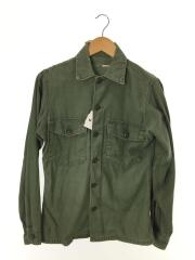 70s/DSA 100-70-C-0375/SHIRT MANS COTTON/ユーティリティシャツ/カーキ