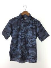 UE-140004/半袖シャツ/4/ポリエステル/ブルー/青/カモフラ
