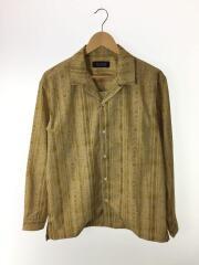 668-9120030/開襟ロングスリーブシャツ/L/ポリエステル/イエロー/黄色/総柄/19年製