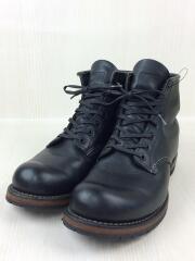 BECKMAN ROUND BOOTS/レースアップブーツ/9014/26cm/BLK