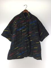 18年製/パッデッドシャツ/556237/44/コットン/BLK/総柄