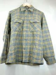 60-70s/長袖シャツ/S/ウール/マルチカラー/チェック