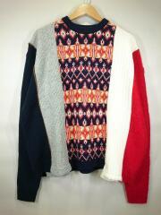 セーター(厚手)/M/--/マルチカラー/総柄