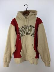 19AW/Paneled Arc Hooded Sweatshirt/M/コットン/RED