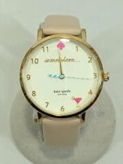 クォーツ腕時計/0484/アナログ/レザー/CRM/小傷有