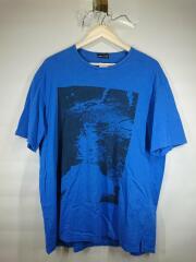 Tシャツ/44/コットン/BLU
