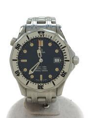 シーマスター・プロフェッショナル/クォーツ腕時計/アナログ/ステンレス/NVY/SLV///ダイバーズ/SEAMASTER PROFESSIONAL 300M///