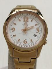 クォーツ腕時計/アナログ/ステンレス/WHT/GLD/7NB2-0HY0