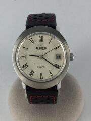 エドックス/DELFIN/自動巻腕時計/アナログ/レザー/WHT/BLK/200259