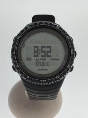 CORE/クォーツ腕時計/デジタル/ラバー/GRY/BLK/スント