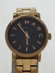クォーツ腕時計/アナログ/ステンレス/NVY/GLD