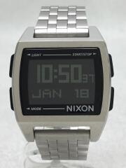 BASE/クォーツ腕時計/デジタル/ステンレス/BLK/SLV/ニクソン