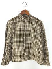 19SS/ワイドチェックシャツ/0/リネン/BEG/チェック/09WFT191100/ミラオーウェン