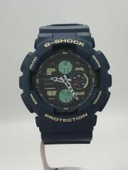 クォーツ腕時計・G-SHOCK/デジアナ/BLK/NVY/GA-140/カシオ